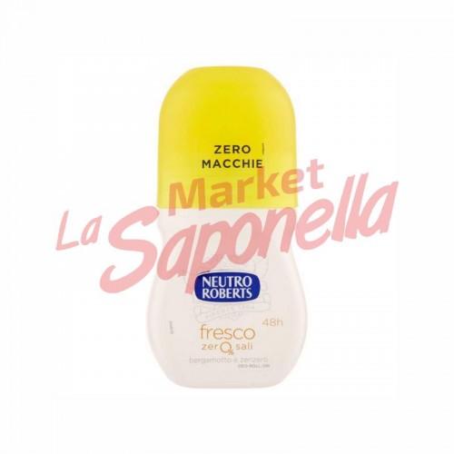 Antiperspirant roll on fresco cu bergamota si ghimbir Neutro Roberts 50 ml